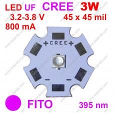 3Вт ультрафиолетовый фито светодиод CREE 395нм