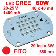 60Вт фито матрица CREE 660нм красного свечения