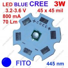 3Вт синій фіто світлодіод CREE 445нм, для росту рослин