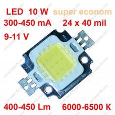 Бюджетный 10Вт светодиод класса супер эконом. 6000К 450Лм