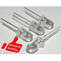 Светодиод 5мм ультрафиолетовый 350-400мкд высококачественный