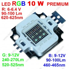 10Вт светодиод RGB DRP-10WRGBS  трехцветный красный/зеленый/синий