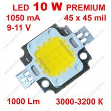 10Вт светодиод теплого свечения DRP-10WCY45WW  3000К 1000Лм