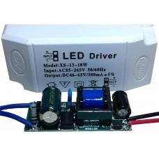 Драйвер питания от сети 13-18шт 1Вт светодиодов 300мА