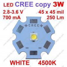 3Вт белый светодиод CREE копия XP-E  4500К
