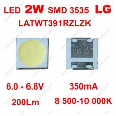 LATWT391RZLZK светодиод SMD 3535 2Вт 6В LG  10 000K