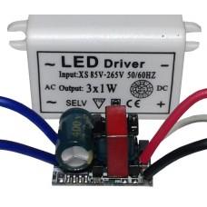 Драйвер питания 1-3шт 1Вт светодиодов 280мА, питание 85-265В