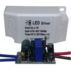 Драйвер питания от сети 4-7шт 1Вт светодиодов 300мА