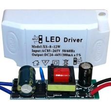 Драйвер питания от сети 8-12шт 1Вт светодиодов 300мА