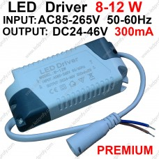12Вт Premium LED драйвер для питания от сети 8-12шт х1Вт светодиодов 300мА