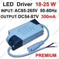 25Вт Premium LED драйвер для питания от сети 18-25шт х1Вт светодиодов 300мА