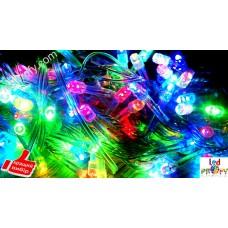 Светодиодная гирлянда, цветная 100 светодиодов