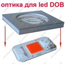 Стеклянная, защитная оптика для DOB светодиодов. Герметичная.